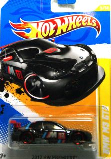 Hot Wheels 2012 New Model Series 5 50 BLACK BMW M3 GT2 with red chrome