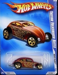 Hot Wheels 2009 Heat Fleet 121 Custom VW Beetle Closed Rear Hood CRH