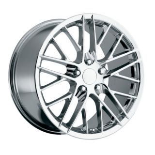 18x8 5 19x10 2009 C6 ZR1 Chrome Corvette Wheels Rims