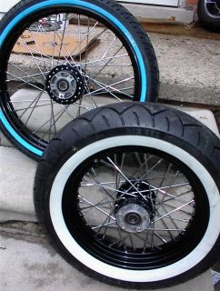 XL Sportster Nightster 2008 2013 Black Wheels W Wide White Walls 21
