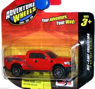 2010 Ford F 150 SVT Raptor Maisto Adventure Wheels 1 64 Scale Orange