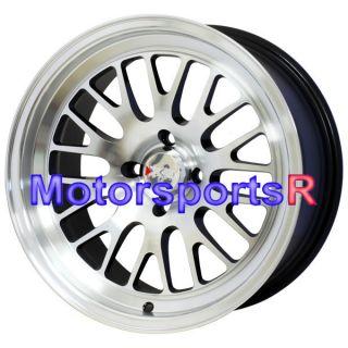 XXR 531 Machine Black Wheels Rims Deep Dish 4x114 3 Stance 97 Acura CL