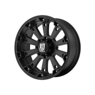 17x9 KMC XD800 Misfit Black Wheels Rims 8 Lug Chevy GM Dodge HD Truck