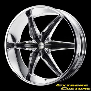 26 x9 5 Helo HE866 Chrome 5 6 Lugs Wheels Rims Free Lugs