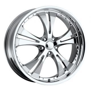 15 inch Vision Shockwave Chrome Wheels Rims 5x115 38