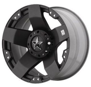 18 inch KMC XD Rockstar Black Wheels Rims 5x5 5 5x139 7