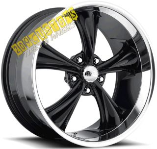 22 inch Boss Wheels 338 Black Rims Tires 5x115 Charger 2005 2006 2007