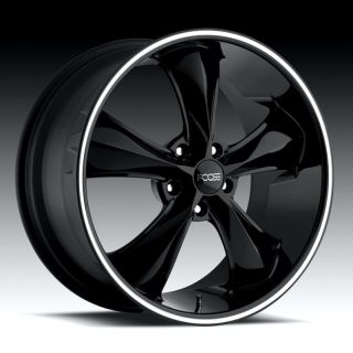 FOOSE LEGEND SS BLACK WITH MACHINED STRIPE CAMARO CORVETTE WHEELS RIMS