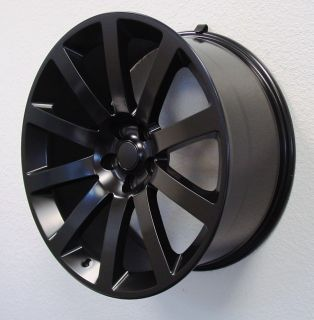 Satin Flat Black SRT8 Challenger Charger Magnum Wheels Rims Set