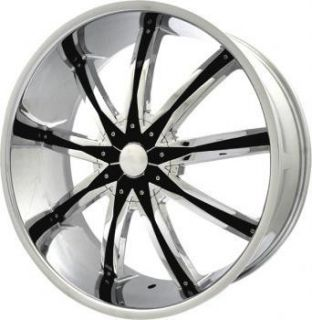 24 inch ELR20 Chrome Black Wheels Rims 5x5 5x127 13