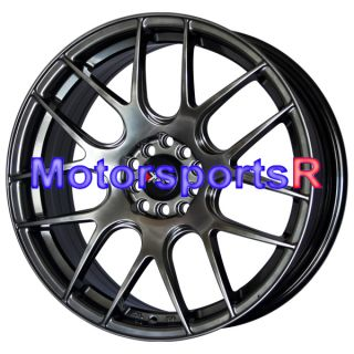 Chromium Black Concave Wheels Rims 06 10 11 12 Honda Civic SI EX LX S
