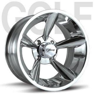 Fairway Alloys Bullet Hand Polished Golf Cart 4 Wheels Rim 14X7