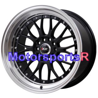 Black Staggered Rims Wheels 5x114 3 Deep Dish Lip 09 13 Nissan 370z