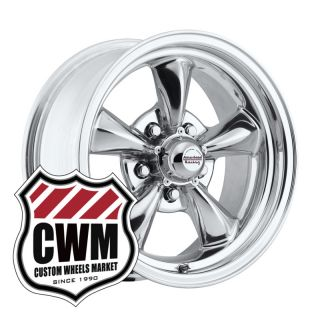 15x6 15x7 Polished Aluminum Wheels Rims 5x4 75 for Chevy El Camino 64