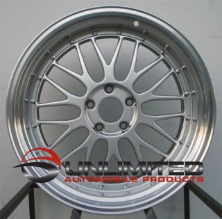 18 Varrstoen ES1 Style Silver Wheels Rims Fit BMW 525 528 530 540 545