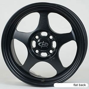 15 ROTA SLIPSTREAM BLACK RIMS WHEELS 15x6.5 +40 4x100 CIVIC INTEGRA