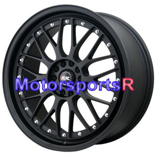 XXR 521 Flat Black Wheels Rims 5x100 13 Subaru BRZ 08 12 Scion xB FRS
