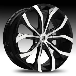 18 Lexani Lust Black Machined Wheel Set Lust Rims Lexani Rims Cars