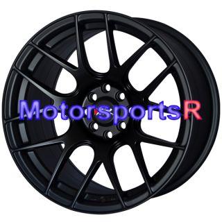 17 XXR 530 Flat Black Rims Staggered Concave Wheels Stance 4x100 84 91