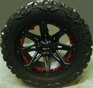 18 Wheels Rims Ballistic Jester Black with 38x15 50x18 Nitto Mud
