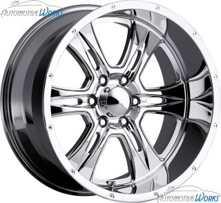286 Predator 8x165 1 8x6 5 14mm Chrome Wheels Rims inch 18