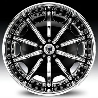 19 asanti AF204 Black Chrome Wheels Rims 2 Piece Tone