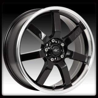 RACING 213MB OSAKA 5X100 5X4 5 SUBARU WRX BLACK MACHINED WHEELS RIMS