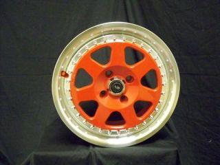 15 Rota J Mag Red Rims Wheels 15x7 40 4x100 Civic XB