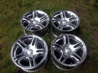 17 x 9 Dodge Dakota Durango OEM Factory Wheels Rims 2105 Chrome 98 04