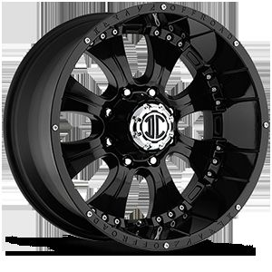 18 Inch 8x6 5 Black Extreme NX 1 Wheels Rims 8 Lug Dodge Ram 2500 3500