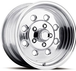 DRAGLITE REPLICA POLISHED 15 ALLOY WHEELS WITH HOLES 5 LUG FORD CHEVY