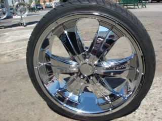 20 Velocity 166 Rims Wheels Tires Mustang Impala Buick