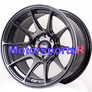 25 XXR 527 Chromium Black Concave Wheels Rims Stance 03 06 Scion xB xA