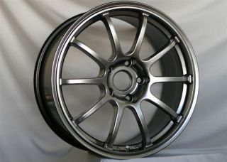 ROTA G FORCE HYPER BLACK RIMS WHEELS 18x9 +25 5x114.3 EVOLUTION X EVOX