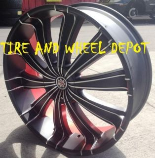 26 INCH S6 RIMS WHEELS AND TIRES DENALI SILVERADO TAHOE SUBURBAN