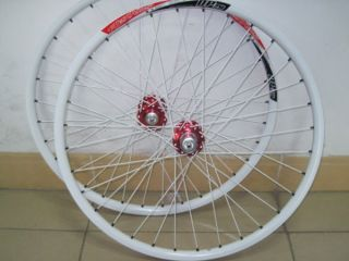DP20 Rims 26 Disc Brake 32H Quando Hubs F R White Wheels Wheelset w30
