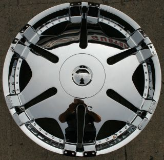 Kasino Ace 570 24 Chrome Rims Wheels GMC Envoy 6x127 Rainier 24 x 9 5