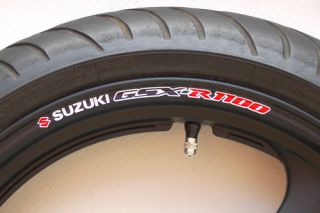 Suzuki GSXR 1100 Wheel Rim Stickers Decals GSXR1100 R