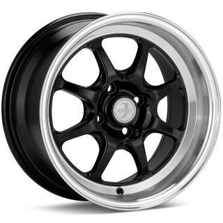 15x8 Enkei J Speed Black Wheel Rim s 4x100 4 100 15 8