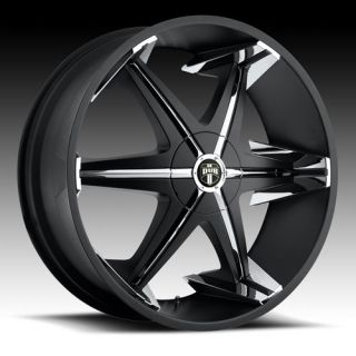 28 x10 Dub Big Homie w O RVT Black 5 6 Lug Wheel Rims