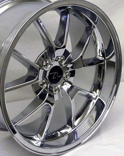 Chrome FR500 Wheels 20x8.5 & 20x10 20 inch Deep Dish fits Mustang