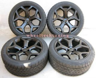 BMW X5 3 0 4 4 4 8 X6 STAGGERED BLACK WHEELS AND TIRES RIMS X5 X6 NEW