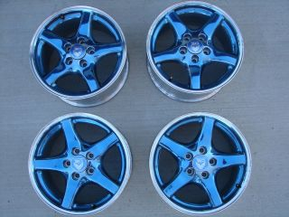 ANNIVERSARY PONTIAC FIREBIRD TRANS AM WHEELS RIM SET CENTER CAPS 25th
