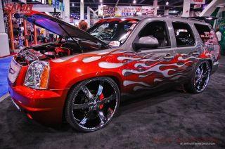 30 U2 55 Wheels Rims Tires Fit Chevy Silverado GMC Sierra Suburban