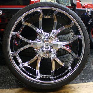 Four 30 Lexani Dial 618 Chrome Black Wheels Rims Pirelli Scorpion