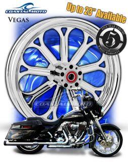 Coastal Moto Vegas Chrome Motorcycle Wheels 21 18 Harley Package
