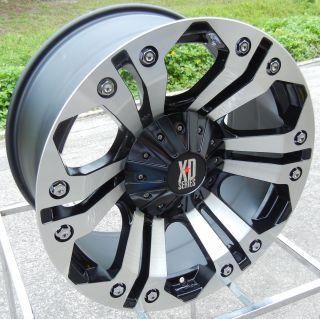 GLOSS BLACK MACHINED XD MONSTER WHEELS RIMS TOYOTA TUNDRA SEQUOIA