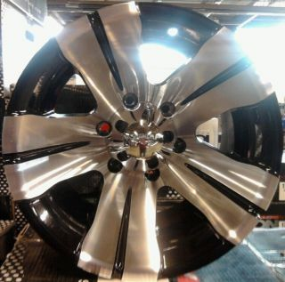 ALLOY BLACK MACHINED DODGE DAKOTA DURANGO RAM 1500 LT DUTY WHEELS RIMS