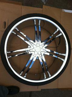 Rims Tires 6x127 Chevy Trail Blazer Buick Rondevous 255 30 24