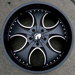 KMC Venom 755 24 Black Rims Wheels RAM 1500 2WD 4WD
